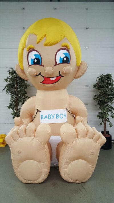 party pop partypop opblaasfiguur opblaasfiguren baby geboortedag geboorte Babyboy boy jongetje zoontje geboren ooievaar geboorte pop