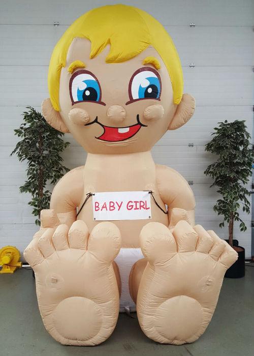 party geboorte pop partypop opblaasfiguur opblaasfiguren baby geboortedag geboorte Babygirl girl meisje dochtertje geboren ooievaar