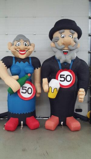party pop partypop opblaasfiguur opblaasfiguren Amersfoort Verjaardag Verjaardagen Feest Viering Feestballon 50jaar 50 jaar vrouw