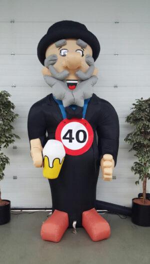 Cartoon Opblaasfiguur party pop partypop opblaasfiguur opblaasfiguren Amersfoort Verjaardag Verjaardagen Feest Viering Feestballon 40jaar 40 jaar