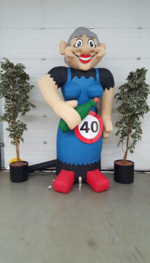 Cartoon Opblaaspop party pop partypop opblaasfiguur opblaasfiguren Amersfoort Verjaardag Verjaardagen Feest Viering Feestballon 40jaar 40 jaar