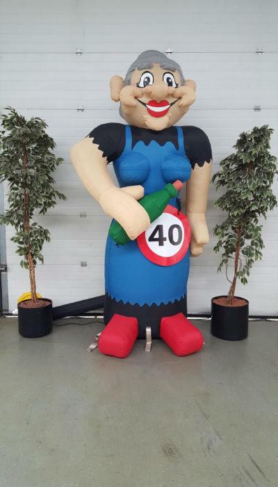opblaaspop 40 jaar Verjaardag vrouw Cartoon – Party Pop opblaaspop 40 jaar